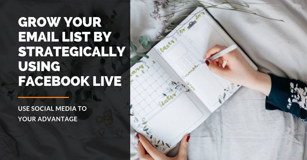 How to build your email list using Facebook is a topic that many are interested in. If you use Facebook Live strategically, your email list will grow fast.